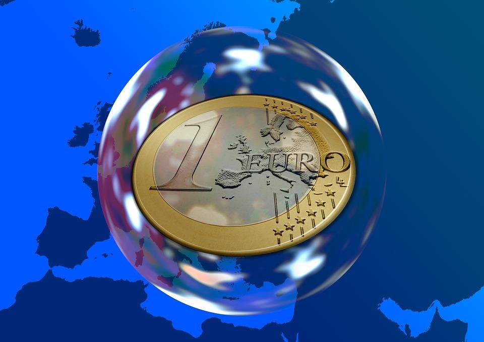euro v bublině