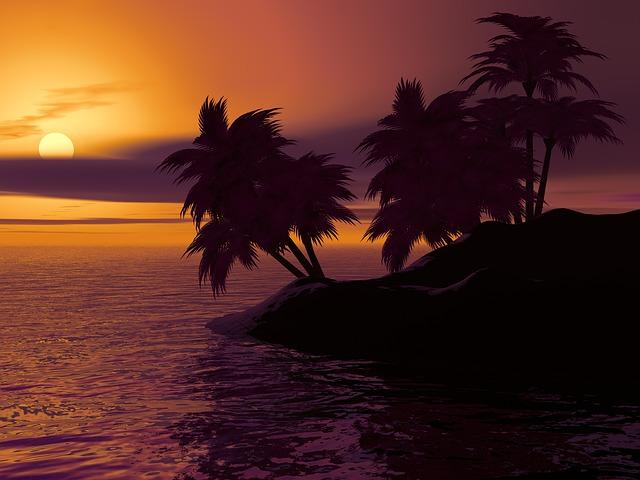 ostrov v Karibiku