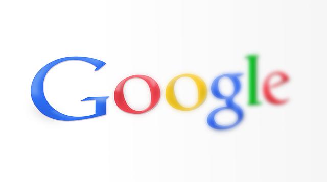 nápis google